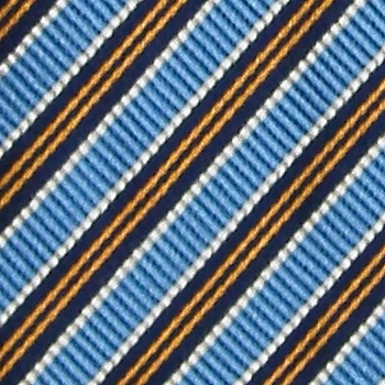 BIELLA STRIPE LIGHT BLUE BROWN REPP RIBBED SILK NECK TIE NECKTIE