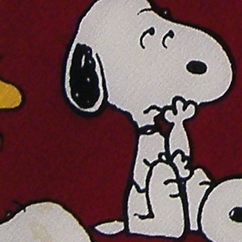 PEANUTS SNOOPY WOODSTOCK CHARLIE BROWN MAROON WHITE SILK NECK TIE NECKTIE