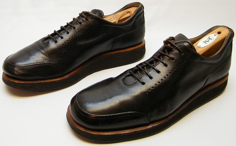 MENS BALLY RUTGER BLACK LEATHER CASUAL LACE UP OXFORDS SHOES SIZE 8E 8