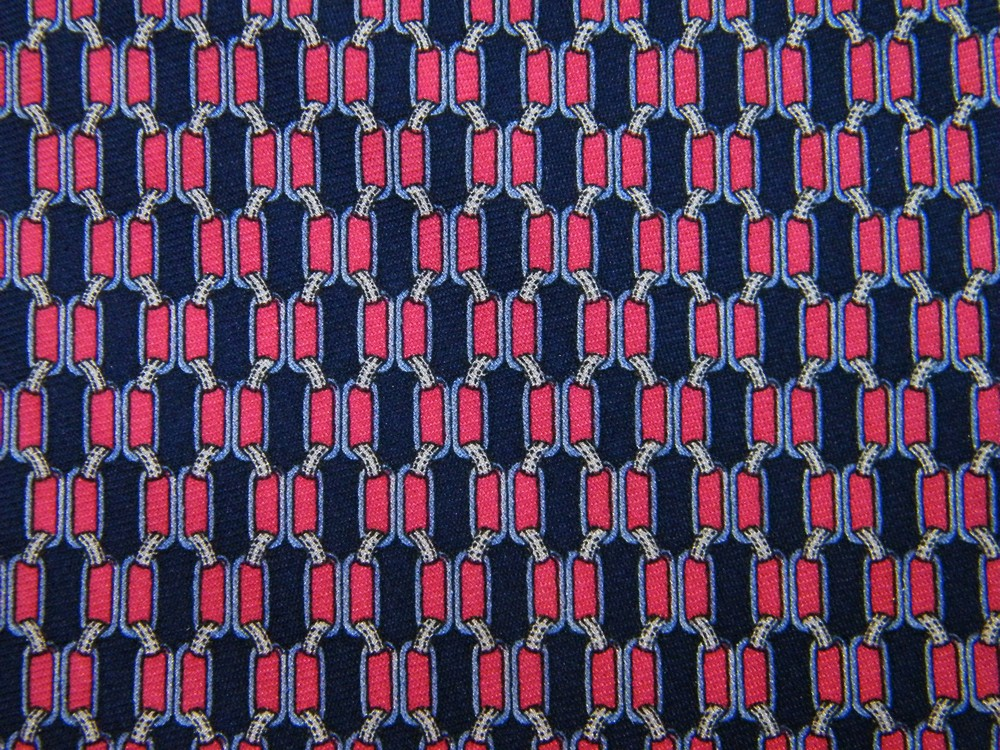 BROOKS BROTHERS SQUARES CHECKER FUSCHIA PINK/RED NAVY BLUE SILK NECK TIE NECKTIE