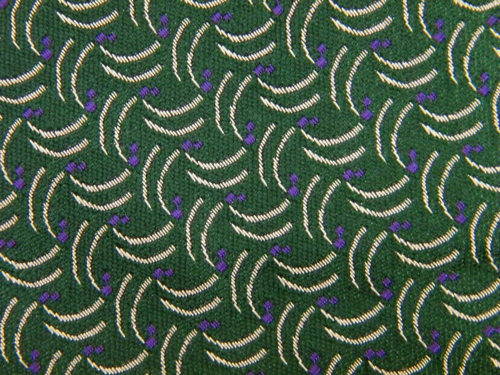 POLO RALPH LAUREN CURVES AND LINES DARK GREEN PURPLE SILK NECK TIE NECKTIE