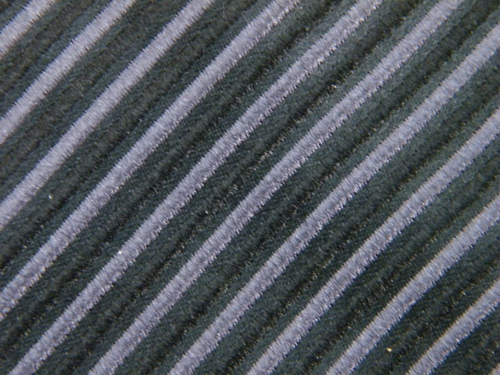 DONALD TRUMP STRIPE BLACK CHARCOAL TEXTURED SILK NECK TIE NECKTIE