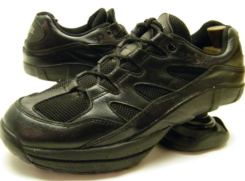 mens zcoil z coil black leather walking tennis